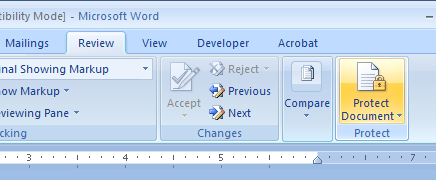 wordmodification41 Microsoft Word: This modification is not allowed because the selection is locked.