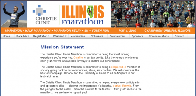 ilmarathonmission 400x196 The Illinois Marathon and Active.com   A Source of Spam?