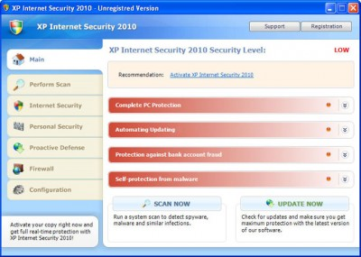 XPInternet2010 400x285 XP Internet Security 2010   An Ongoing Current Attack