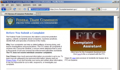 complaintassist 400x233 How to File a CAN SPAM Complaint with the FTC