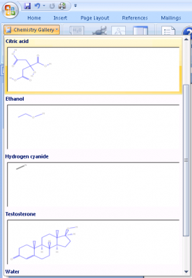 gallery 276x400 Chem4Word   Show Chemistry Notations Easily in Word