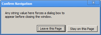 inchrome Ask 404TS: Whats up with Are you sure you want to navigate away from this page? dialogs?
