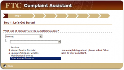 step1b 400x226 How to File a CAN SPAM Complaint with the FTC