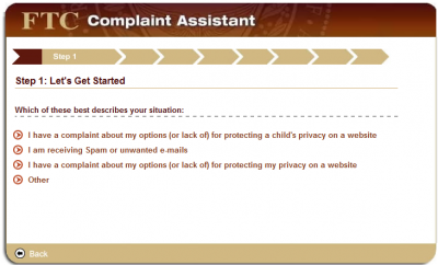 step1c 400x242 How to File a CAN SPAM Complaint with the FTC