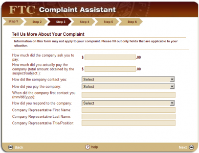 step3 389x300 How to File a CAN SPAM Complaint with the FTC