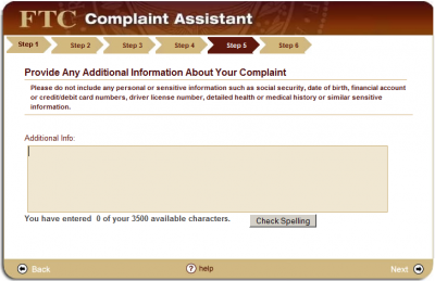 step5 400x259 How to File a CAN SPAM Complaint with the FTC