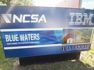 BlueWatersMainSign 400x300 Touring Blue Waters   The National Petascale Computing Facility
