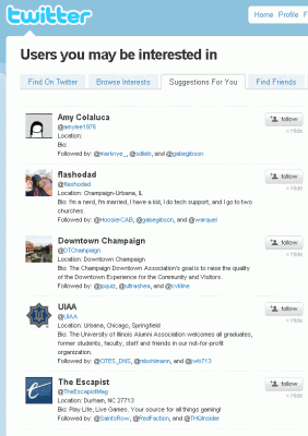 Suggestions4u 282x400 Twitters New Follow Recommendations Needs Some Work