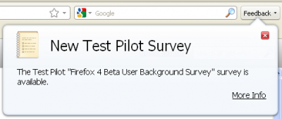survey 400x169 Hands on With The Firefox 4 Beta 2