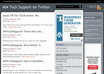 archive completed 400x284 Use WordPress to Create a Searchable Archive of Your Tweets