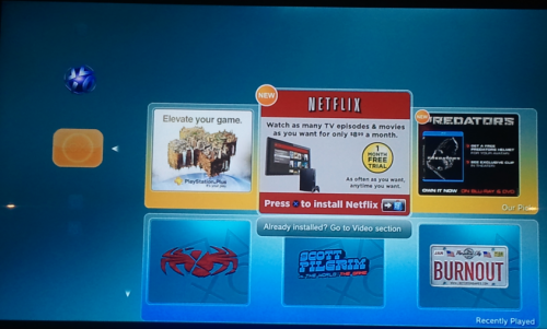 netflix ps3 1 500x301 How To Install The Disc less Netflix App on the Sony PlayStation 3