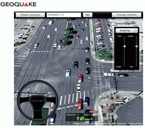 3d geoquake 500x441 Save Gas, Take Google Maps and Street View For A Road Trip