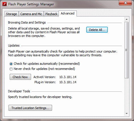 checkupdates Adobe Flash 10.3 Update Released With Privacy and Security Emphasis, Ability To Delete Flash Cookies