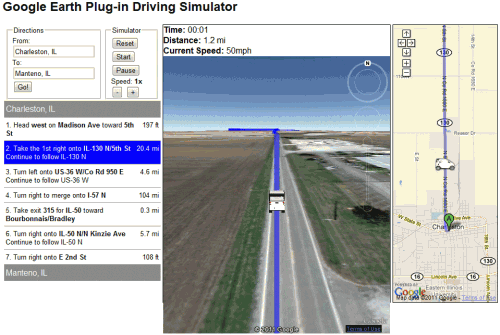 google earth simulator 500x335 Save Gas, Take Google Maps and Street View For A Road Trip