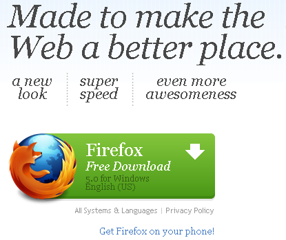 ff5 Firefox 5 Lands Without A Bunch of Fanfare But Brings Do Not Track