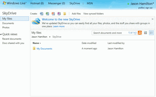 main skydrive 500x312 Get 25GB of Storage in the Cloud Free with Microsofts Relaunched SkyDrive
