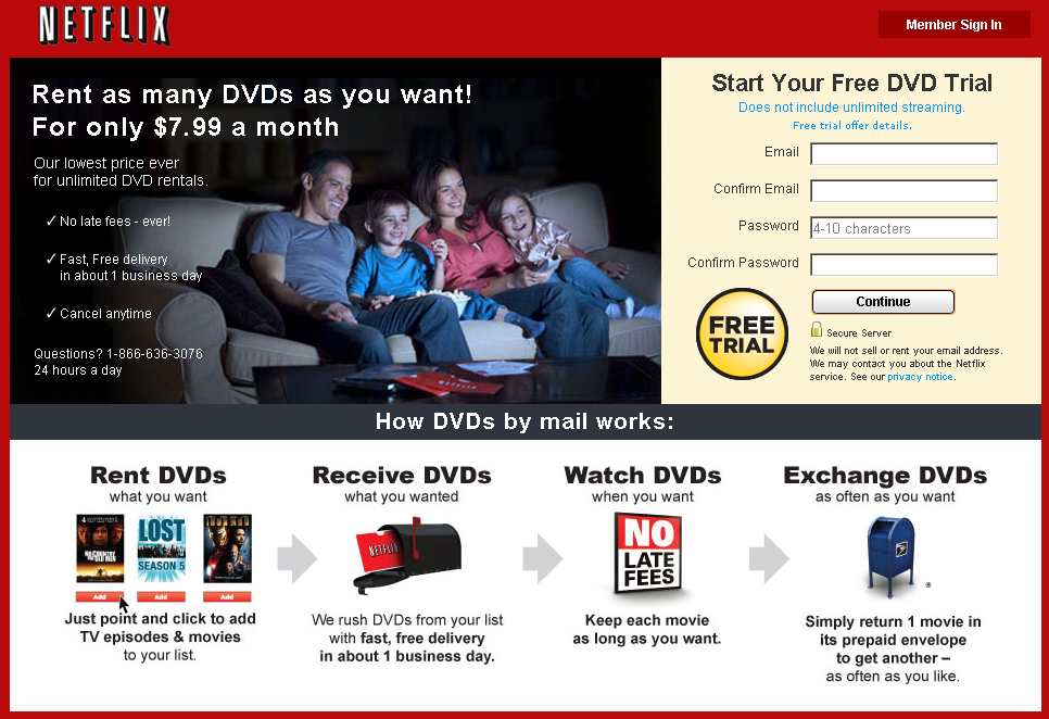 Unlimited DVDs and Unlimited Streaming From Netflix Will Now Cost ...
