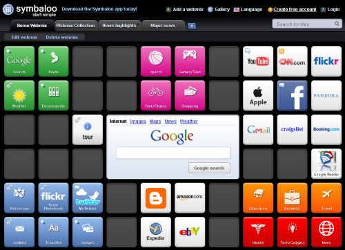 symbaloo With Google shuttering iGoogle next Fall, here are some alternatives