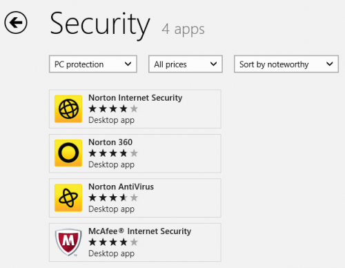 win8 security apps 500x388 Windows 8 Action Center: Find and install an antispyware app online (Important)