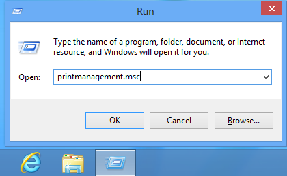printmanagement How to View Remote Printers in Windows 8