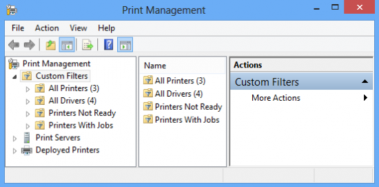printmgmt 1 550x271 How to View Remote Printers in Windows 8