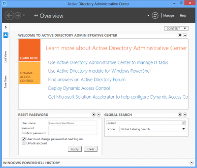AD admin center 400x342 The Active Directory Administrative Center in Windows 8/Server 2012