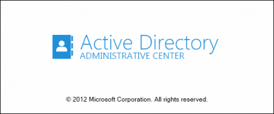 AD admin center splash 400x167 The Active Directory Administrative Center in Windows 8/Server 2012