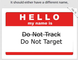 do not target DuckDuckGo explains Do Not Track