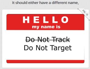 do not target DuckDuckGo explains Do Not Track