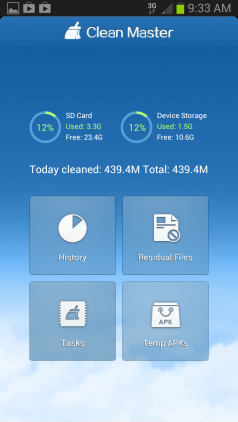clean master for android CCleaner like app for Android