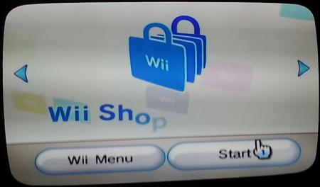 wii shop channel start