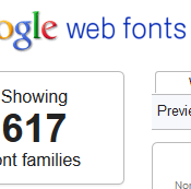 google web fonts