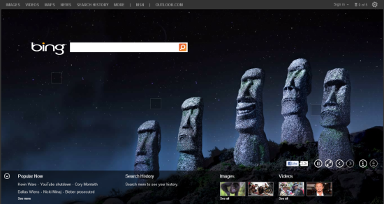 bing easter island April Fools 2013 around the web