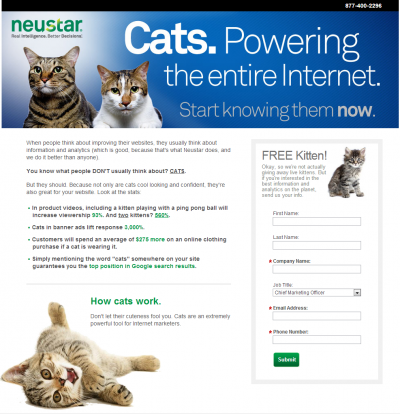 neustar cats 400x414 April Fools 2013 around the web