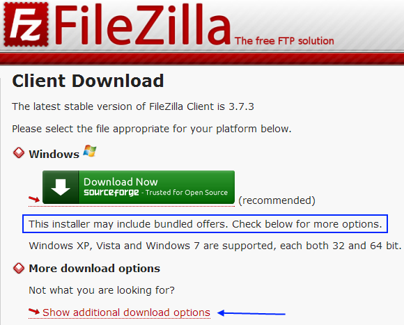 fz download SourceForges DevShare adware program rears its ugly head with FileZilla