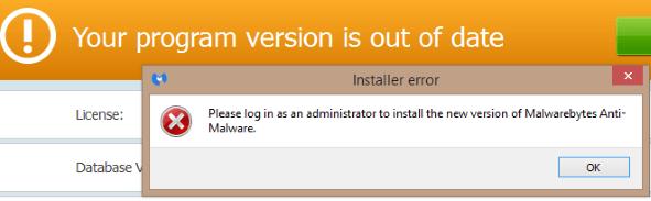 malwarebytes update error