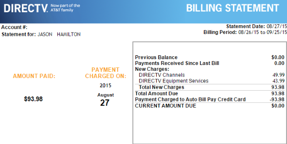 How A Directv Bill Really Works In 2015 404 Tech Support