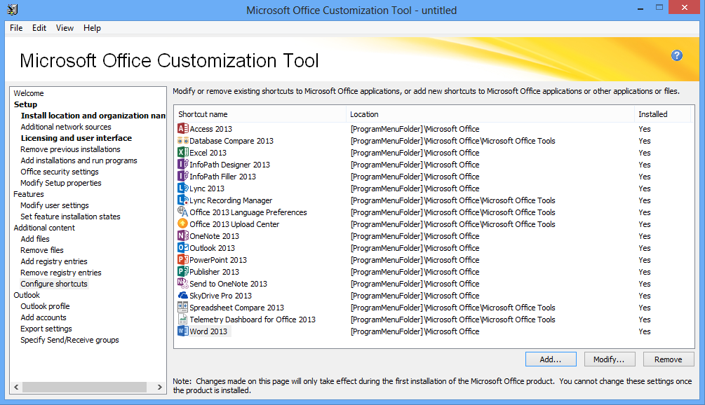 Office Group Policy Templates Using The Office 2013 Microsoft Office Customization Tool And Office 2013 Group Policy