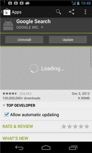 Google Play Loading screenshot